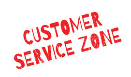 Customer Service Zone rubber stamp Royalty Free Stock Image