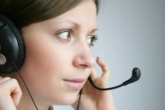 Customer services. Attractive young business customer services agent Royalty Free Stock Photo