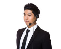 Customer services agent Stock Photo