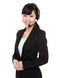 Customer services assistant Stock Image
