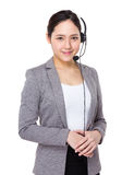 Customer services assistant Stock Photo