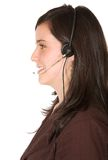 Customer services - beautiful smile Royalty Free Stock Photography