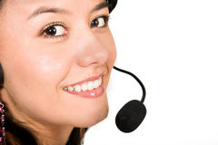 Customer services - close up Royalty Free Stock Photography