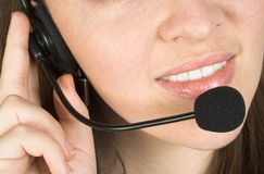Customer services close up Stock Image