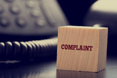 Customer services Complaint concept Stock Photo