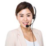 Customer services consultant Stock Photo