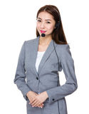 Customer services consultant Stock Images