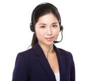 Customer services executive Stock Image