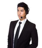 Customer services executive Stock Photography