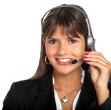 Customer services girl Stock Photography