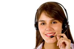 Customer services girl Royalty Free Stock Image