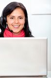 Customer services girl Stock Images