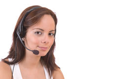 Customer services girl Royalty Free Stock Photography