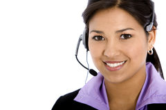 Customer services girl Stock Image