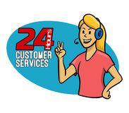 Customer Services Girl Royalty Free Stock Photo