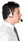 Customer services guy Royalty Free Stock Image
