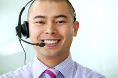 Customer services man Stock Photo