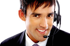 Customer services man Stock Photos