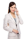 Customer services officer with headset Royalty Free Stock Photo