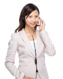 Customer services officer Stock Photo