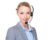 Customer services officer Stock Image