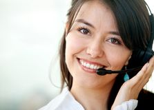 Customer services operator Stock Photo