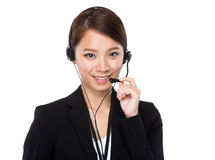 Customer services operator Stock Image