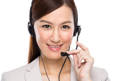 Customer services operator with headset Royalty Free Stock Photos