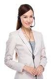 Customer services operator Stock Photos