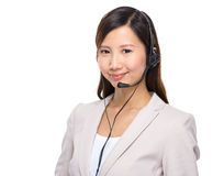 Customer services operator Stock Photos