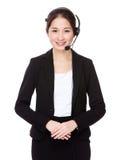 Customer services operator Stock Photo