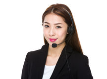 Customer services operator Stock Photography