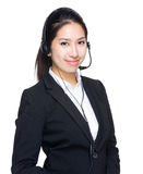 Customer services operator portrait Stock Image