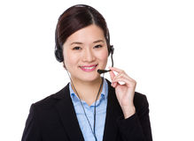 Customer services receptionist Royalty Free Stock Photos