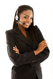 Customer services representative Stock Photo