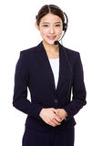 Customer services representative with headset Stock Photography
