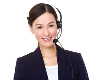 Customer services representative Stock Images