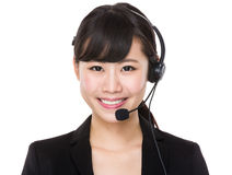 Customer services representative Stock Image