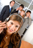 Customer services representative team Royalty Free Stock Images