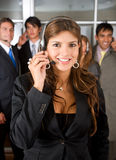 Customer services representative team Stock Image