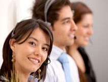 Customer services representative team Royalty Free Stock Photography