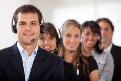 Customer services representative team Royalty Free Stock Image