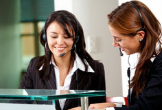 Customer services representatives Royalty Free Stock Photo