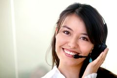 Customer services woman Royalty Free Stock Image