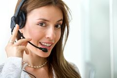Customer services woman Royalty Free Stock Photography