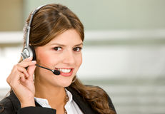 Customer services woman Stock Image