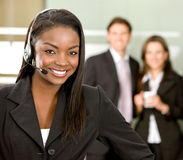 Customer services woman Royalty Free Stock Photo