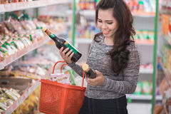 Customer shopping at groceries store Stock Photography