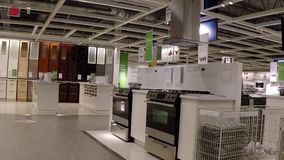 Customer shopping hardware inside Ikea store. In Coquitlam BC Canada stock footage