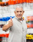 Customer Showing Thumbs Up Sign In Hardware Shop Stock Image